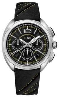 Fendi Momento Leather Chronograph Watch