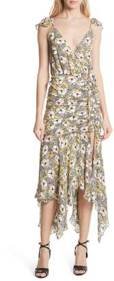 Veronica Beard Martine Floral Print Dress