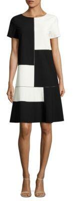 Lafayette 148 New York Rafaella Colorblock Dress $498 thestylecure.com