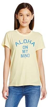 Billabong (ビラボン) - (ビラボン) BILLABONG レディース 半袖 ルーズ Tシャツ (T/C天竺採用) AG014-211 / ALOHA ON MY MIND AG014-211 VYL VYL L