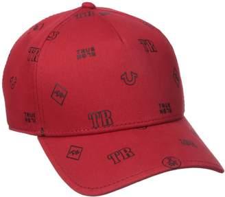True Religion Men's Monogram Tpu Twill Bb Cap