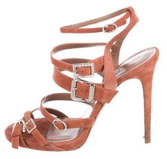 Tabitha Simmons Suede Buckled Sandals