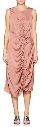 Raquel Allegra Women's Ruched Charmeuse Midi-Dress
