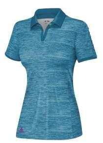adidas Women's Puremotion? Textured Pleat Sleeve Polo '14 Polo Shirt XL