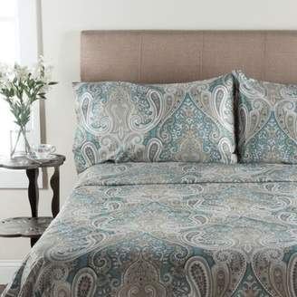 Elite Home Products (Bedding) T300 Crystal Palace Print Sheet Set