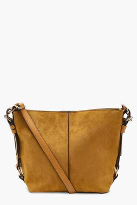 boohoo Maisie Suedette Metal Detail Cross Body Bag