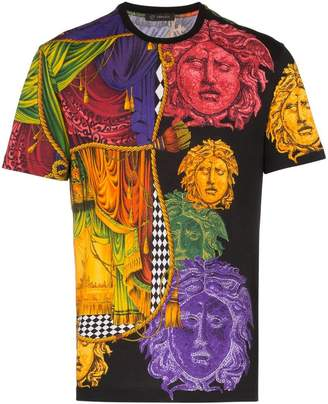 Versace Medusa Sipario print cotton t shirt