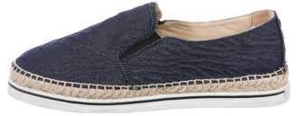 Jimmy Choo Denim Slip-On Sneakers