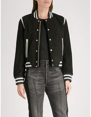 Rag & Bone Baela suede and leather jacket