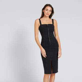 Zip Thru Denim Dress