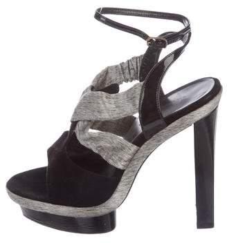 Balenciaga Suede Platform Sandals