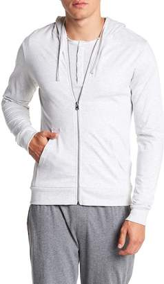 Unsimply Stitched Lightweight Front Zip Hoodie