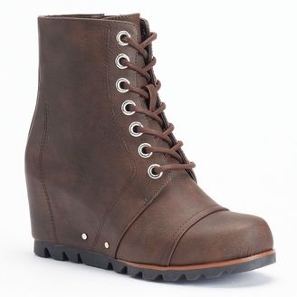 unionbay raquel wedge spat boots juniors sold out