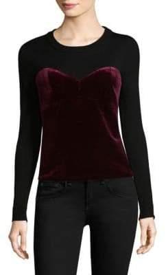 Milly Velvet Corsetry Sweater