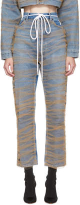 Off-White Blue Tulle Jeans