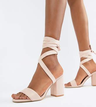 Park Lane Tie Leg Block Heeled Sandals