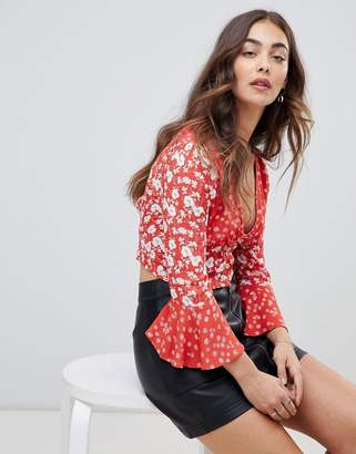 Free People Lady Bohemian button front blouse