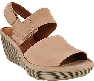 ClarksClarks Artisan Leather Wedge Sandals - Clarene Allure