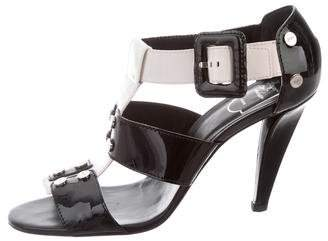 Roger Vivier Patent Leather Ankle Strap Sandals