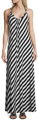 LM BEACH Lm Beach Stripe Jersey Swimsuit Cover-Up Dress