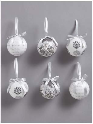 Very Decoupage Christmas Baubles - Grey (Set of 14)