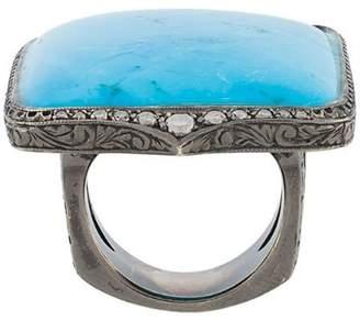 Loree Rodkin turquoise & diamond ring