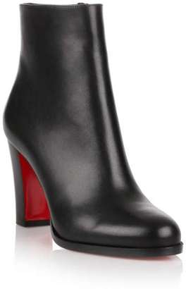 Christian Louboutin Adox 85 black leather ankle boot $945 thestylecure.com