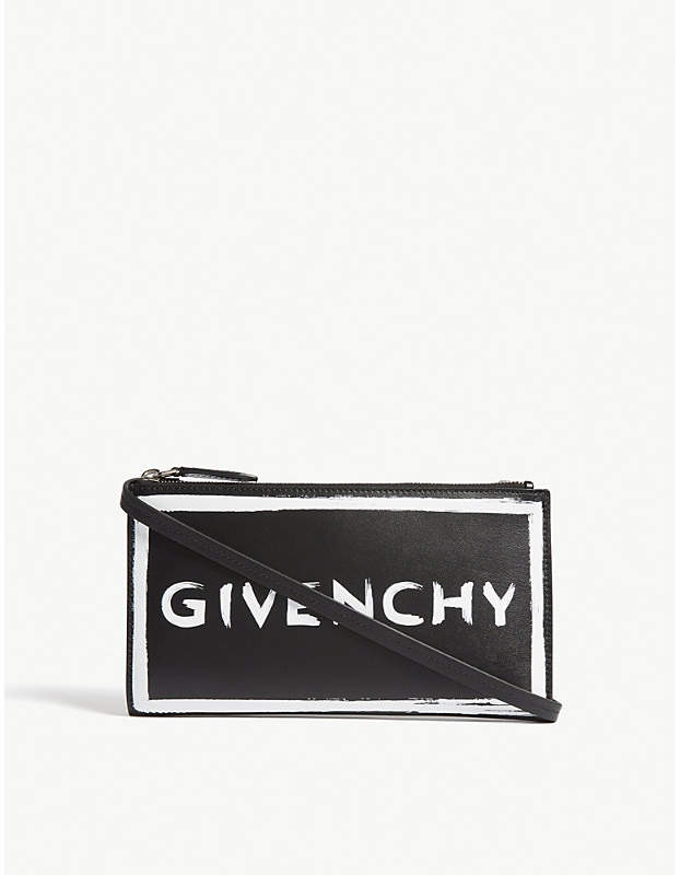 Givenchy Graffiti logo leather wallet-on-chain