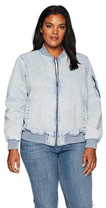 Levi's Size Women's Plus Acid wash Cotton Bomber Jacket