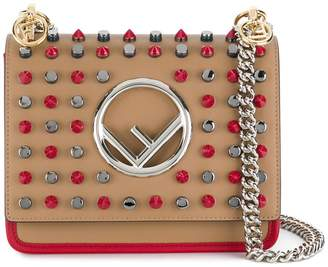 Fendi small Kan I F studded shoulder bag