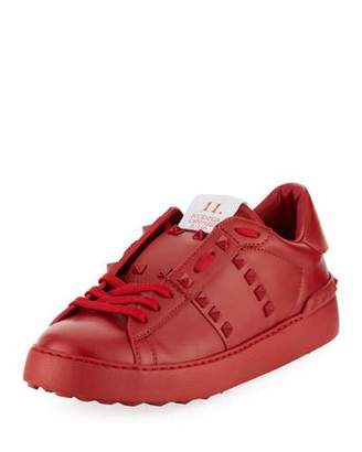Valentino Rockstud Leather Platform Sneakers