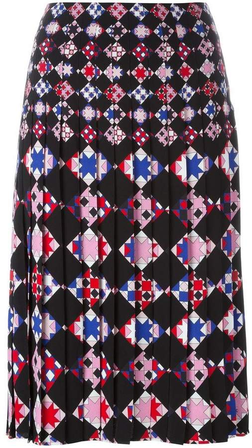 Emilio Pucci geometric print pleated skirt