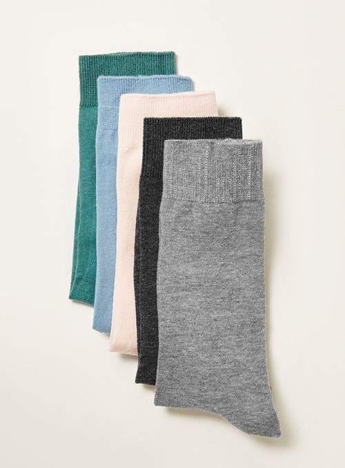 Socken im 5er-Pack, verschiedene Farben