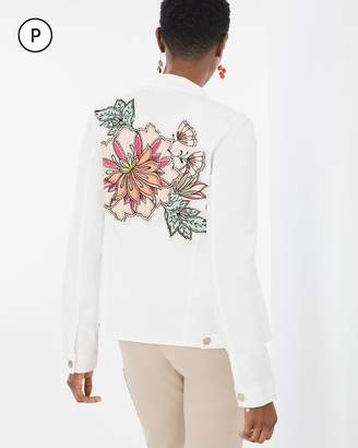 Petite Floral Sateen Jacket