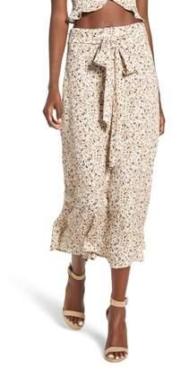 AFRM Mia Ruffle Midi Skirt