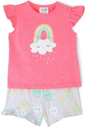 Sprout NEW Girls Essential Pyjama Set Pink