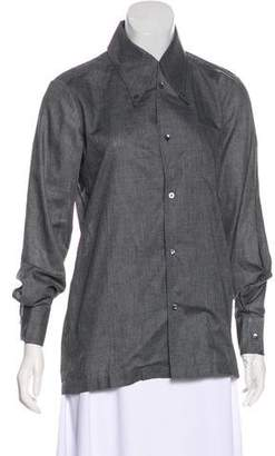 Maison Margiela Long Sleeve Button-Up Top