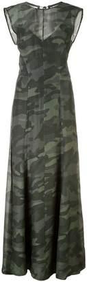 OSKLEN sleeveless camouflage dress