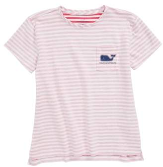 Vineyard Vines Stripe Pocket Tee