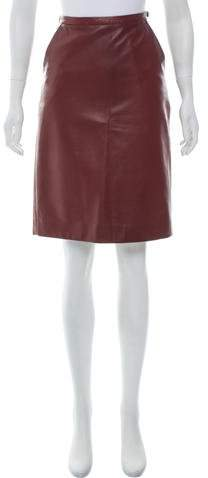 Michael Kors Knee-Length Leather Skirt