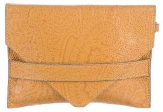 Etro Embossed Envelope Clutch