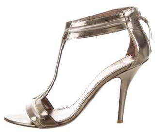 Givenchy Metallic T-Strap Sandals