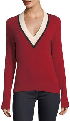 Veronica Beard Barrett V-Neck Cashmere Sweater