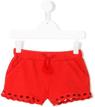 Chloé Kids scallop edge shorts