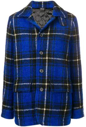 Aspesi short plaid coat
