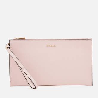 Furla Women's Babylon Extra Large Envelope Clutch Bag - Blush