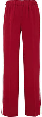Elizabeth and James Kelly Striped Crepe Track Pants - Red