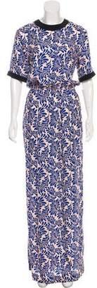 Ungaro Printed Short Sleeve Maxi Dress w/ Tags