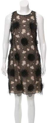 Lela Rose Organza Flower Tank Dress w/ Tags