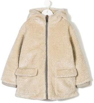 Stella McCartney front zipped hooded jacket